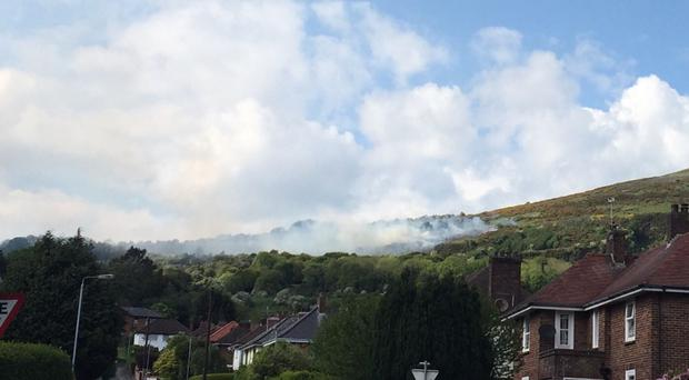 The Northern Ireland Fire Service is dealing with a large gorse fire at Cavehill in Belfast.