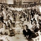 Shirt factory workers in Derry in 1936