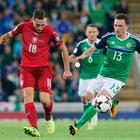 Familiar foes: Corry Evans takes on the Czechs in 2017