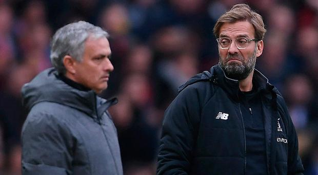 Jose Mourinho (left) reckons Jurgen Klopp will be in optimistic mood ahead of the European final.