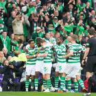 Celtic's Odsonne Edouard celebrates scoring his side's second goal of the game. Pic: Jeff Holmes/PA Wire