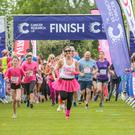 Runners crossed the finished line at Race for Life at Stormont Estate.