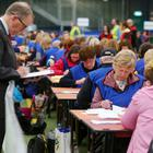 Counting begins at Meadowbank Leisure Centre in Magherafelt for Northern Ireland's European Parliament Election vote. Three MEPs can be returned for Northern Ireland. Picture by Jonathan Porter/PressEye