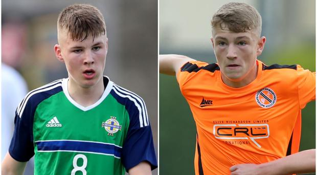 Gerard Storey and Harry Anderson have both joined Portsmouth from Portadown