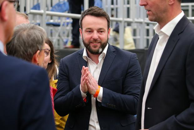 SDLP leader and MEP candidate Colum Eastwood arrives at the count. Picture by Jonathan Porter/PressEye