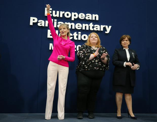 Northern Ireland's three MEPs: Sinn Fein's Martina Anderson, Alliance Party leader Naomi Long and the DUP's Diane Dodds. Picture by Jonathan Porter/PressEye