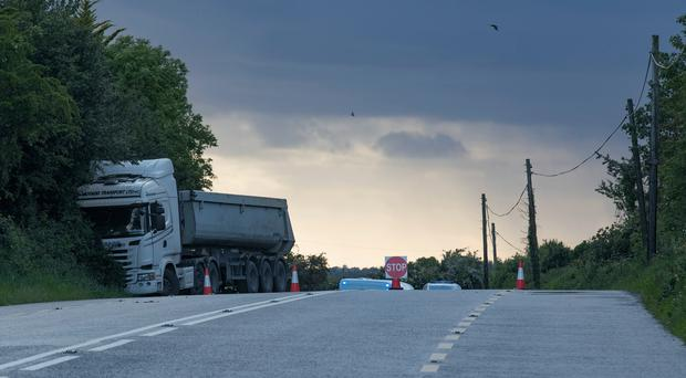 The scene of the crash in Co Offaly