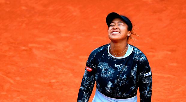 Big scare: Naomi Osaka was two points away from exiting