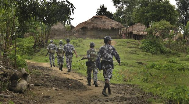 The military has been battling the Arakan Army, a well-trained guerrilla force from the Buddhist ethnic group seeking autonomy for Rakhine, Amnesty said (AP/Esther Htusan, File)
