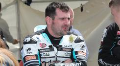 Michael Dunlop came in fourth during Monday's Superbike outing at the Isle of Man TT.