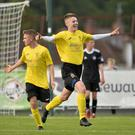 New Portsmouth signing Gerard Storey scored as County Antrim beat GPS Bayern in the final of the 2017 SuperCupNI Junior final.