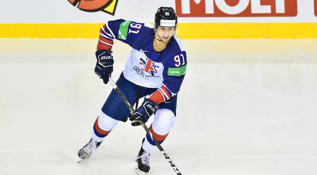 New Belfast Giants signing Ben Lake in action for Great Britain during the World Championships in Kosice, Slovakia (Lukasz Laskowski/PressFocus/MB Media/Getty Images)