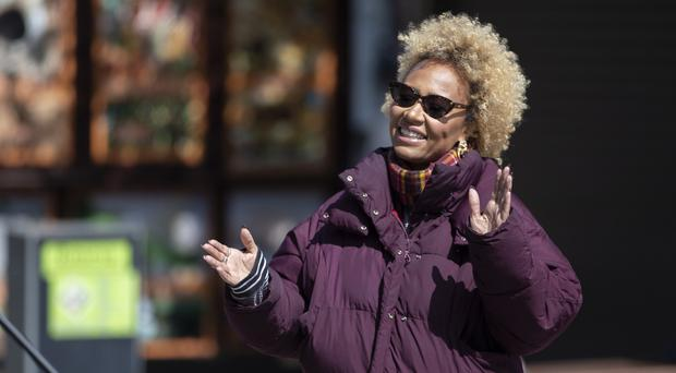 Singer-songwriter Emeli Sande during filming in Aberdeen for a new BBC Scotland series Emeli Sande's Street Symphony (Jane Barlow/PA)