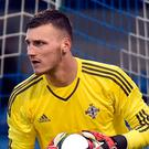 Linfield goalkeeper Conor Mitchell