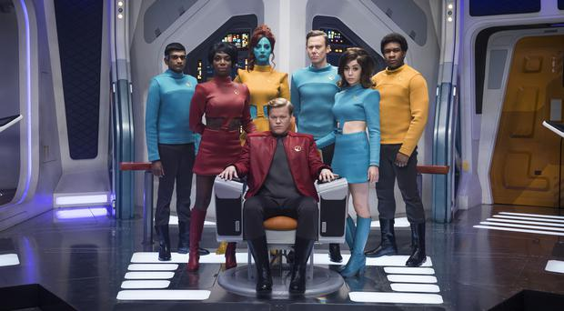 Photo issued by Netflix of cast members in an episode in the Black Mirror series (Jonathan Prime/Netflix/PA)