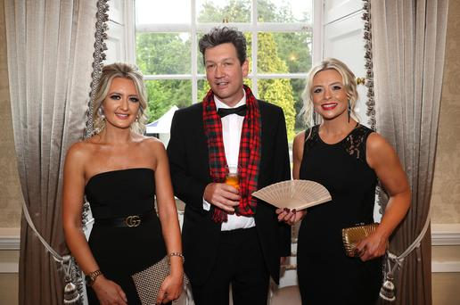The 2019 Northern Ireland Tourism Awards took place recently at the Palace Demesne, Armagh. Pictured at the event is Laura Stewart, Antony MacMaghton and Jenifer Micheal. Photo by William Cherry/Presseye