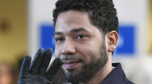 Jussie Smollett after his charges were dropped in March (Paul Beaty/AP)