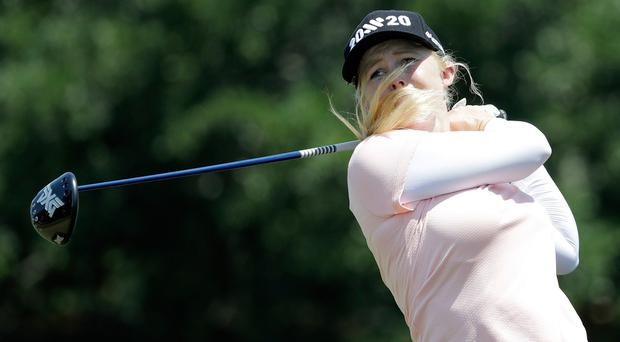 Stephanie Meadow is two shots off the cut mark after her opening round at the US Open.
