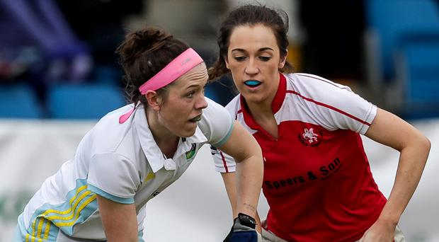 UCD's Bethany Barr (left) has held her place in the Ireland squad.
