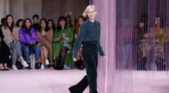Kate Spade Creative Director Nicola Glass walks the runway at the Kate Spade AW19 Collection (Photo by JP Yim/Getty Images for TRESemme)