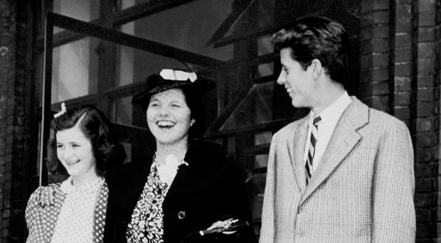 Rosemary (centre) with sister Jean and brother John F Kennedy in 1940