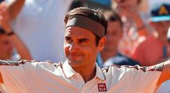 All good: Roger Federer is happy with how he's playing