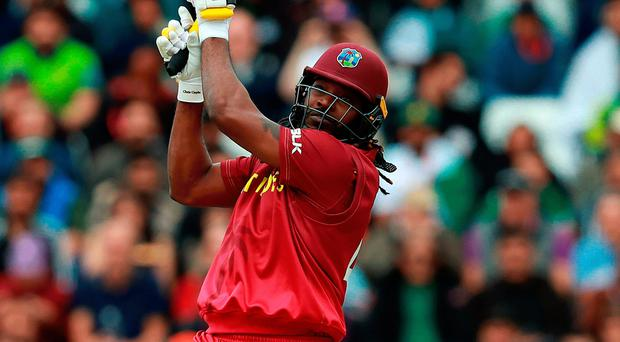Big hitter: Chris Gayle en route to breaking most sixes record