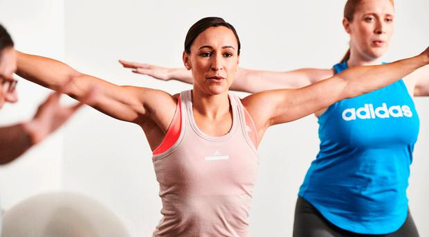 Jessica Ennis-Hill working out