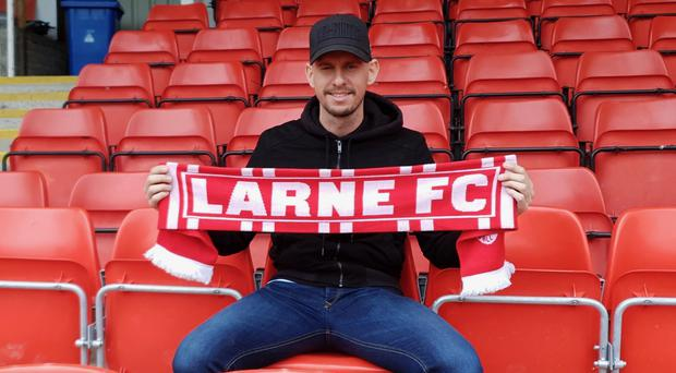 Mark Randall has signed for Larne FC. Credit: Larne FC