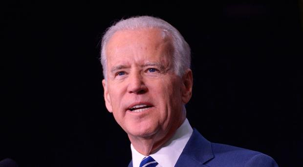 Touchy subject: former US vice president Joe Biden was accused of being overly tactile