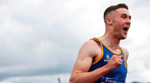 Class act: Aaron Sexton takes victory in Tullamore