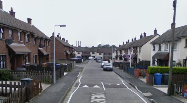 The incident happened in the Moyle Parade area of Larne. Credit: Google
