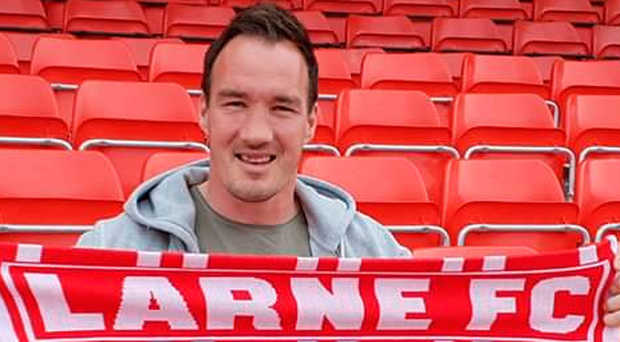 Coming in: Larne's latest arrival Albert Watson