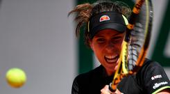 In her hands: Johanna Konta is on form at the French Open
