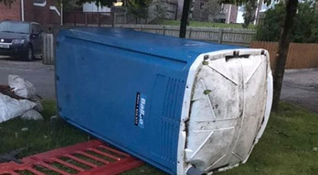 Portaloos are being tipped over in Craigavon. Credit: Thomas Larkham