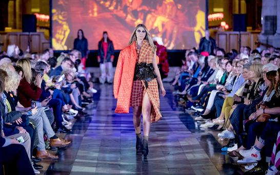 Ulster University fashion students end of year show with CMPR at St Anne's Cathedral in Belfast on June 4th 2019 (Photo by Kevin Scott for Belfast Telegraph)