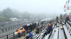 Hill fog has delayed Wednesday's racing at the Isle of Man TT.
