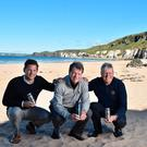 Anders Jacobson, co-founder and CEO of Blue, Tom Watson, global ambassador for The Open, and Martin Slumbers, chief executive of The R&A, launch The Open Water initiative at Portrush