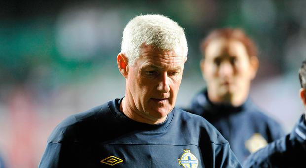 Long goodbye: NI's last visit to Estonia in 2011 signalled the beginning of the end for Nigel Worthington's stint as manager