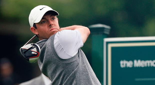 Fired-up: Rory McIlroy