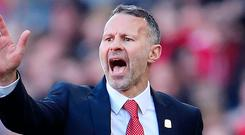 Tough test: Ryan Giggs is confident his Welsh players can rise to the challenge in Croatia today