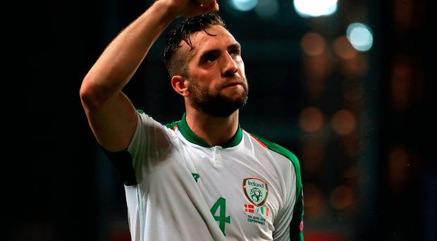 Head man: Shane Duffy celebrates