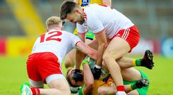 Tyrone's Tiernan McCann was involved in a controversial second half incident against Donegal.