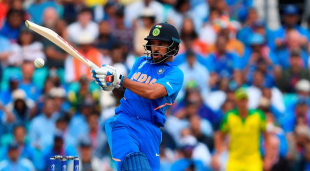 Big hitter: India's Shikhar Dhawan on his way to a superb century