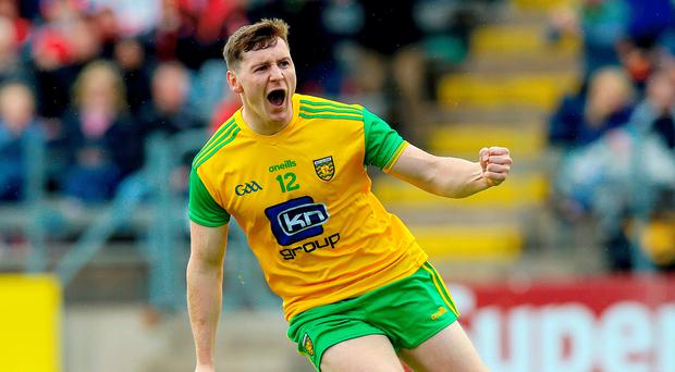 Don deal: Donegal's Jamie Brennan celebrates scoring for Donegal