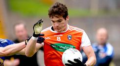 Jarlath Og Burns' Armagh side face a trip to Monaghan in the All Ireland qualifiers.