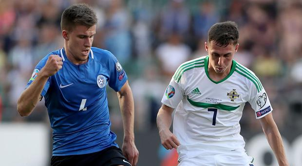 Gavin Whyte was handed his first competitive start for Northern Ireland.