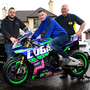 Revved up: Andy Hilton, Neil Kernohan and Bill Kennedy MBE