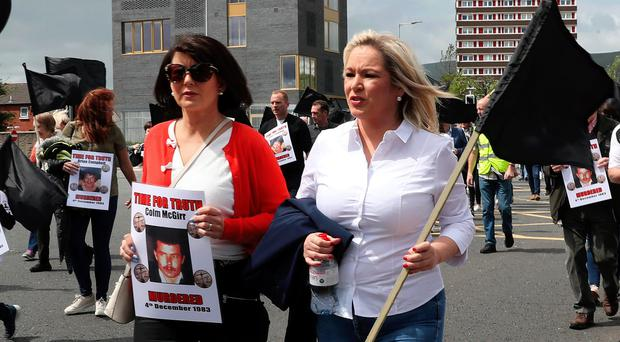 Sinn Fein vice president Michelle O'Neill at the Time for Truth March in Belfast