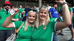 Press Eye - Belfast - Northern Ireland - 11th June 2019 - Photo by William Cherry/Presseye Northern Ireland fans during Tuesday nights UEFA EURO 2020 Qualifier against Belarus at the Borisov Arena, Belarus. Photo by William Cherry/Presseye